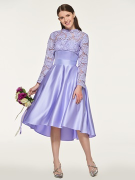 Ericdress Long Sleeves High Low Bridesmaid Dress