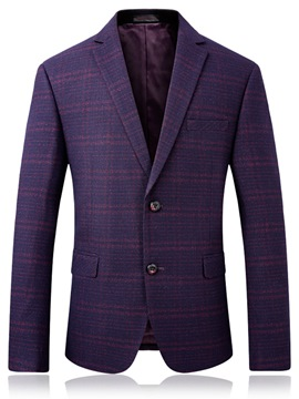 Ericdress Men's 2 Button Lapel Stripe Jacket Blazer