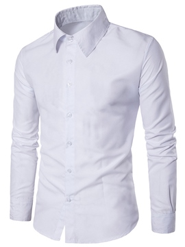 ericdress hommes plaine slim fit affaires chemises occasionnelles