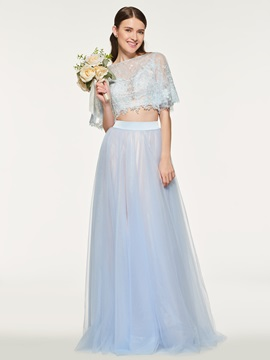 Ericdress Half Sleeves Two Pieces Bridesmaid Dress