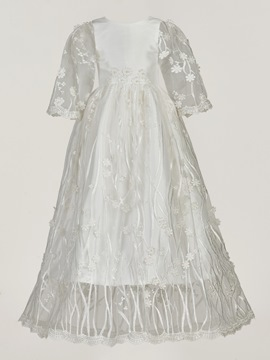 Ericdress Scoop Headband Christening Baptism Dress for Girls
