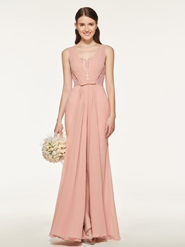 Ericdress Mermaid Long Bridesmaid Dress