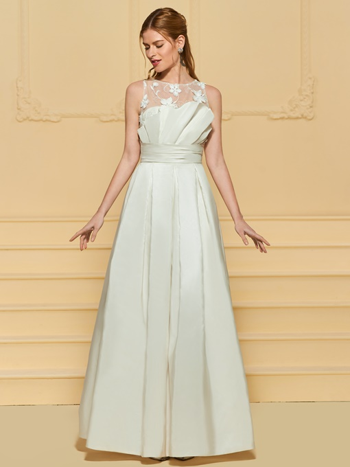 Ericdress A Line Lace Outdoor Wedding Dress