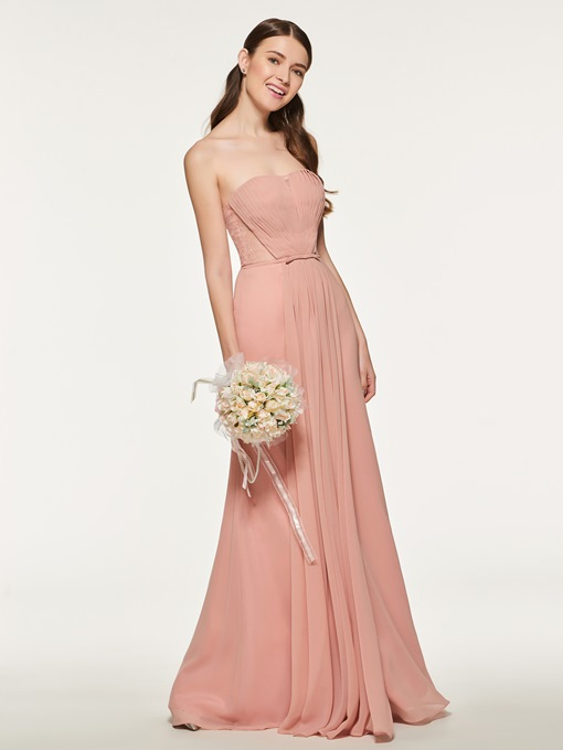 Ericdress Sweetheart Pleats Long Bridesmaid Dress