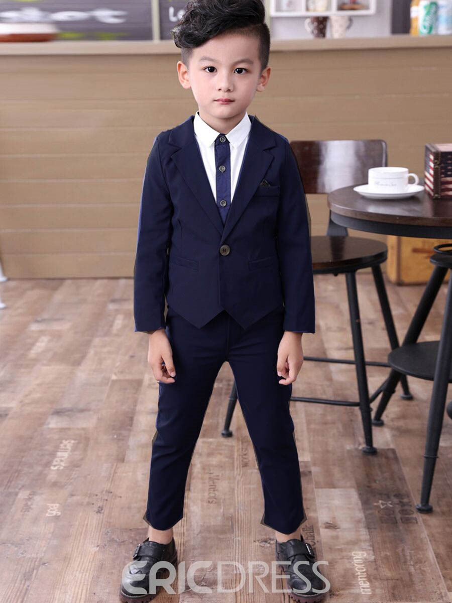 Ericdress Solid Color 2-Pcs Boys Dress Suit Set