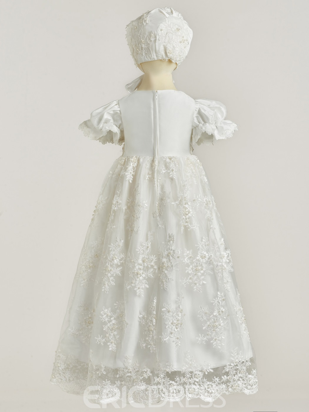 fed7f899f ... Ericdress Short Sleeves Jewel Appliques Ball Gown Christening Dress ...
