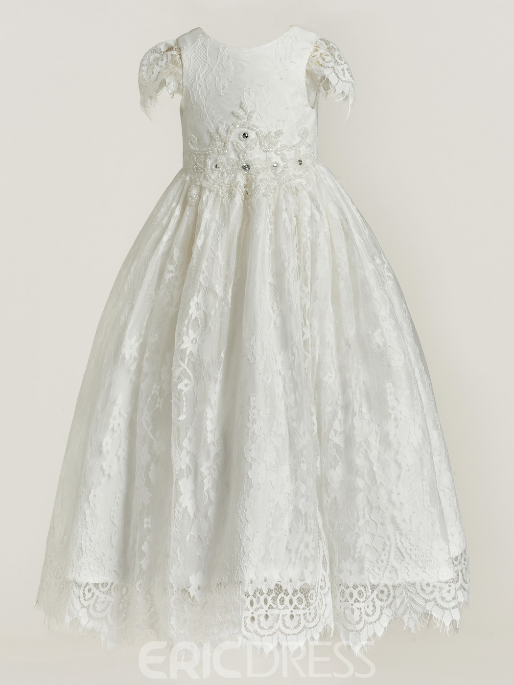 Ericdress Baby Girls Lace Christening Baptism Gown 12855580 ...