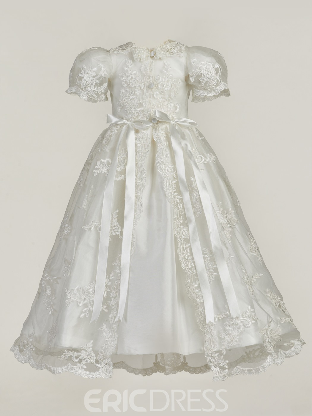 Ericdress Lace Baby Girl Christening Baptism Gown with Bonnet ...