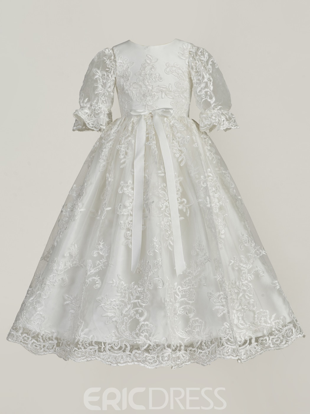 Ericdress Long Beautiful Lace Christening Gown For Girls