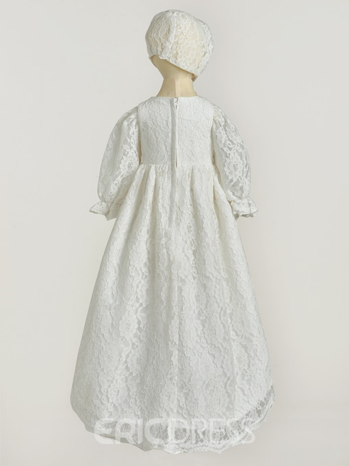 Ericdress Bowknot Lace Baby Girl's Christening Gown