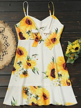 Ericdress Sleeveless Floral Print Women's Casual Dress