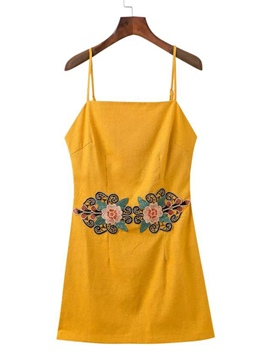 Ericdress Printing Strappy Open Back Women's Sexy Casual Dress