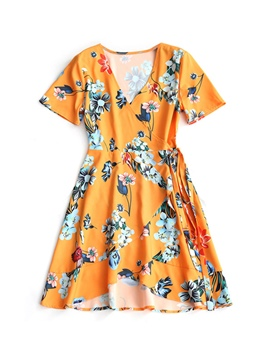Ericdress Above Knee Printing Women's Day Dress