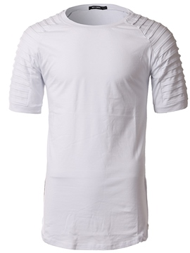 Ericdress Men's Plain Scoop Short Sleeve T Shirt