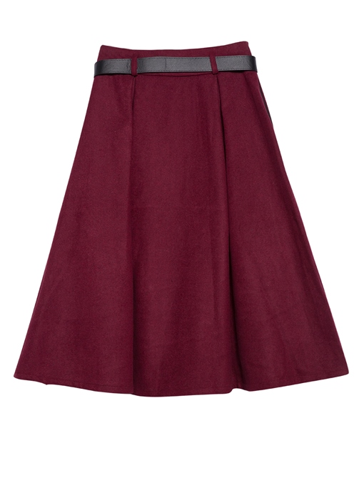 Ericdress Expansion Mid-Calf Button High Waist Skirt
