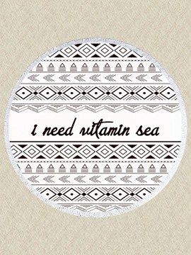 Ericdress Beautiful Print Round Beach Blanket