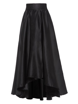 Ericdress Pleated Asymmetric Mid-Waist Maxi Skirt