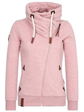 Ericdress Zipper Plain Long Sleeve Hooded Hoodie