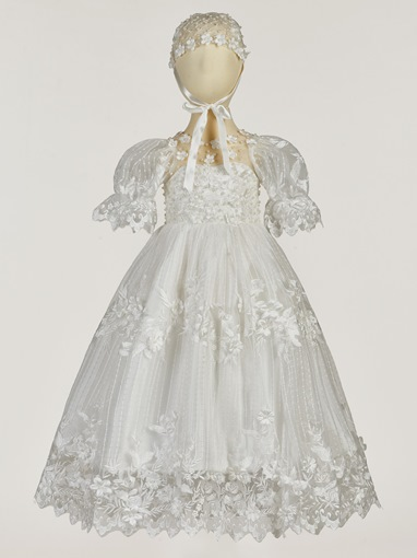 Ericdress Pearls Appliques Baby Girls Christening Gown