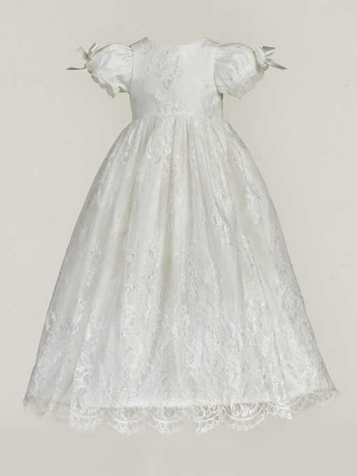Ericdress Lovely Lace Long Robe Christening Gown for Girls with Hat