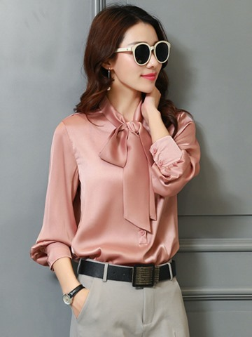 Ericdress Plain Loose Single-Breasted Shirt