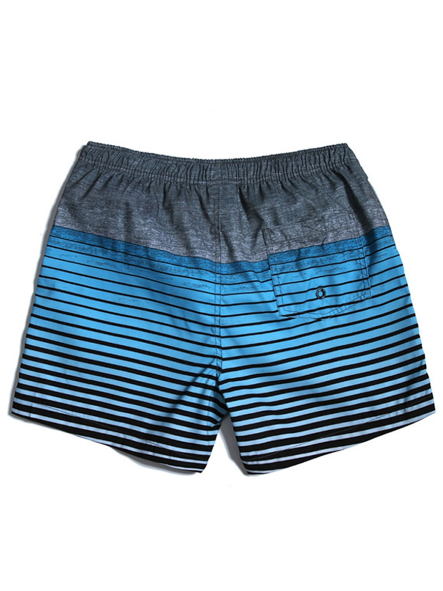 Ericdressn Stripe Men's Loose Beach Board Swim Shorts