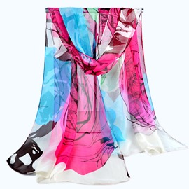 Ericdress Contrast Color Chinese Style Chiffon Scarf