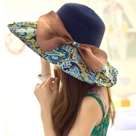 Ericdress Fashionable Straw Sunhat for Holiday