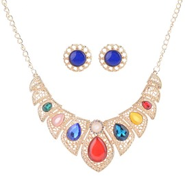 Ericdress Vintage Colorful Rhinestone Women's Jewelry Set