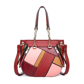 Ericdress Geometric Pattern Color Block Women Handbag