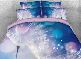 Vivilinen 3D Dandelion with Rain and Dew Printed 4-Piece Bedding Sets/Duvet Covers