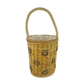Ericdress Bucket Shape Knitted Straw Bag