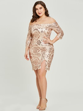 Ericdress Off-the-Shoulder Half Sleeves Sheath Cocktail Dress