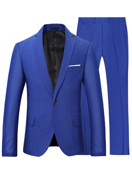 Ericdress Men's One Button Plain Blazer Pants Business Suit
