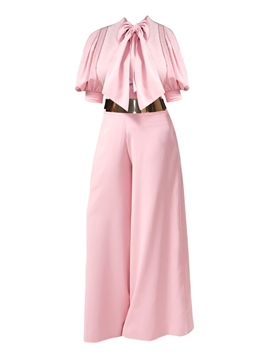 Ericdress Wide Leg Bowknot Women's Jumpsuit