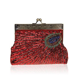 Ericdress Vintage Peacock Pattern Women Clutch