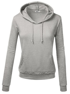 Ericdress Slim Solid Color Thin Cool Hoodie