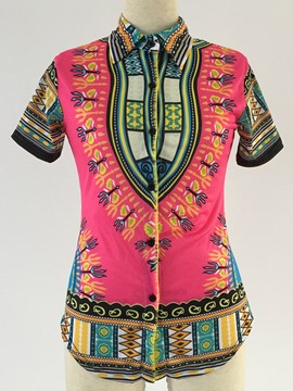 Ericdress Slim Lapel Dashiki Blouse