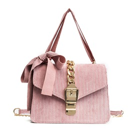 Ericdress Plain Corduroy Women Crossbody Bag