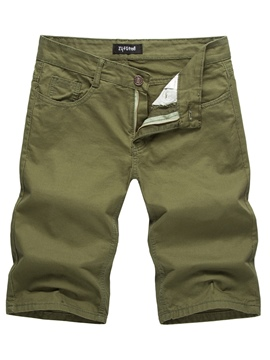ericdress Herren Plain Mid-Tail Baumwolle Shorts