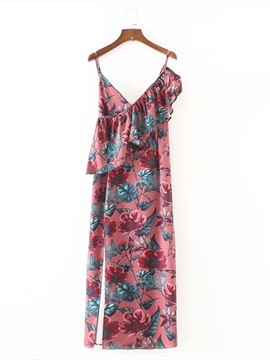 Ericdress Ankle-Length Floral Printing Women's Long Day Dress