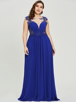 Ericdress A Line Appliques Cap Sleve Evening Dress