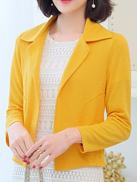 Ericdress Plain Slim Plus-Size Short Blazer