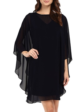 Ericdress Scoop Pullover Plain Women's Mesh Dress
