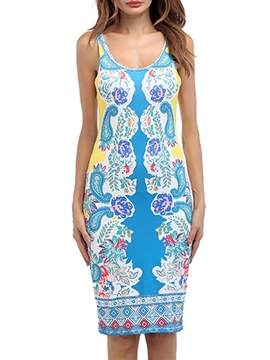 Ericdress Knee-Length Sleeveless Summer Women's Bodycon Dress