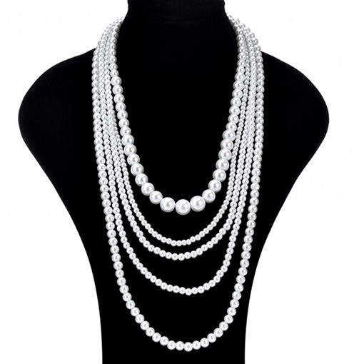 Ericdress Elegant Multilayer Imitation Pearl Necklace