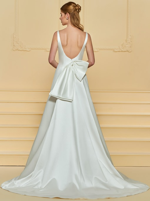 Ericdress Bowknot Low Back Wedding Dress