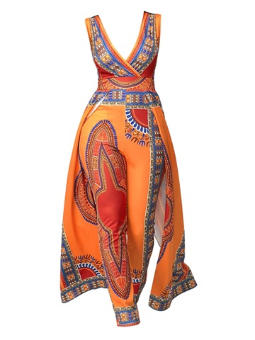 Ericdress Geometric Print Women's Jumpsuit