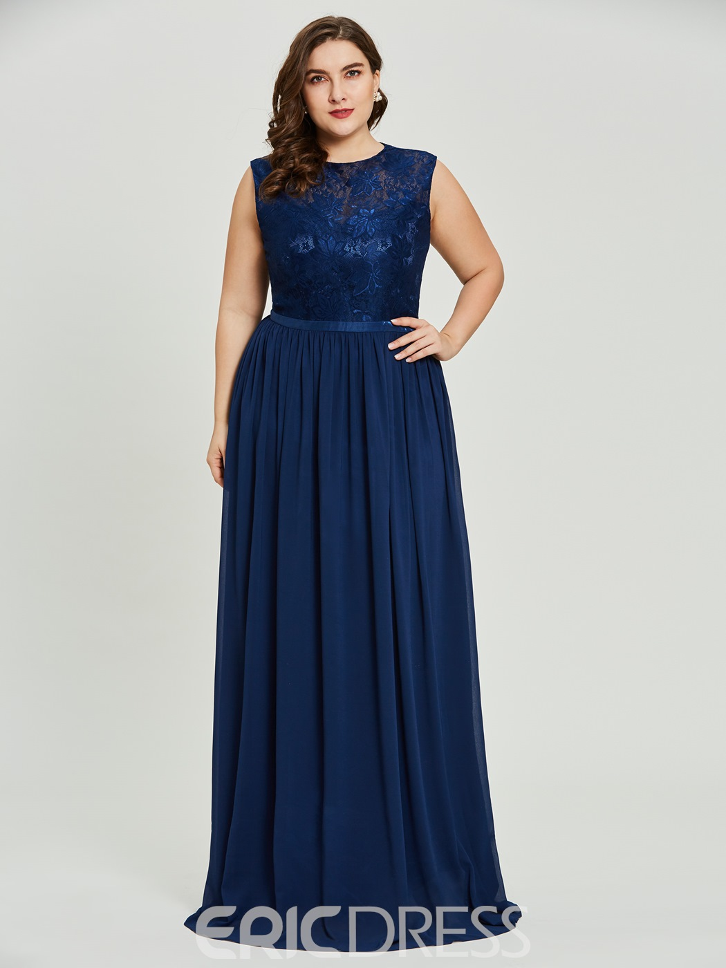 Ericdress Plus Size Scoop Neck A Line Prom Dress