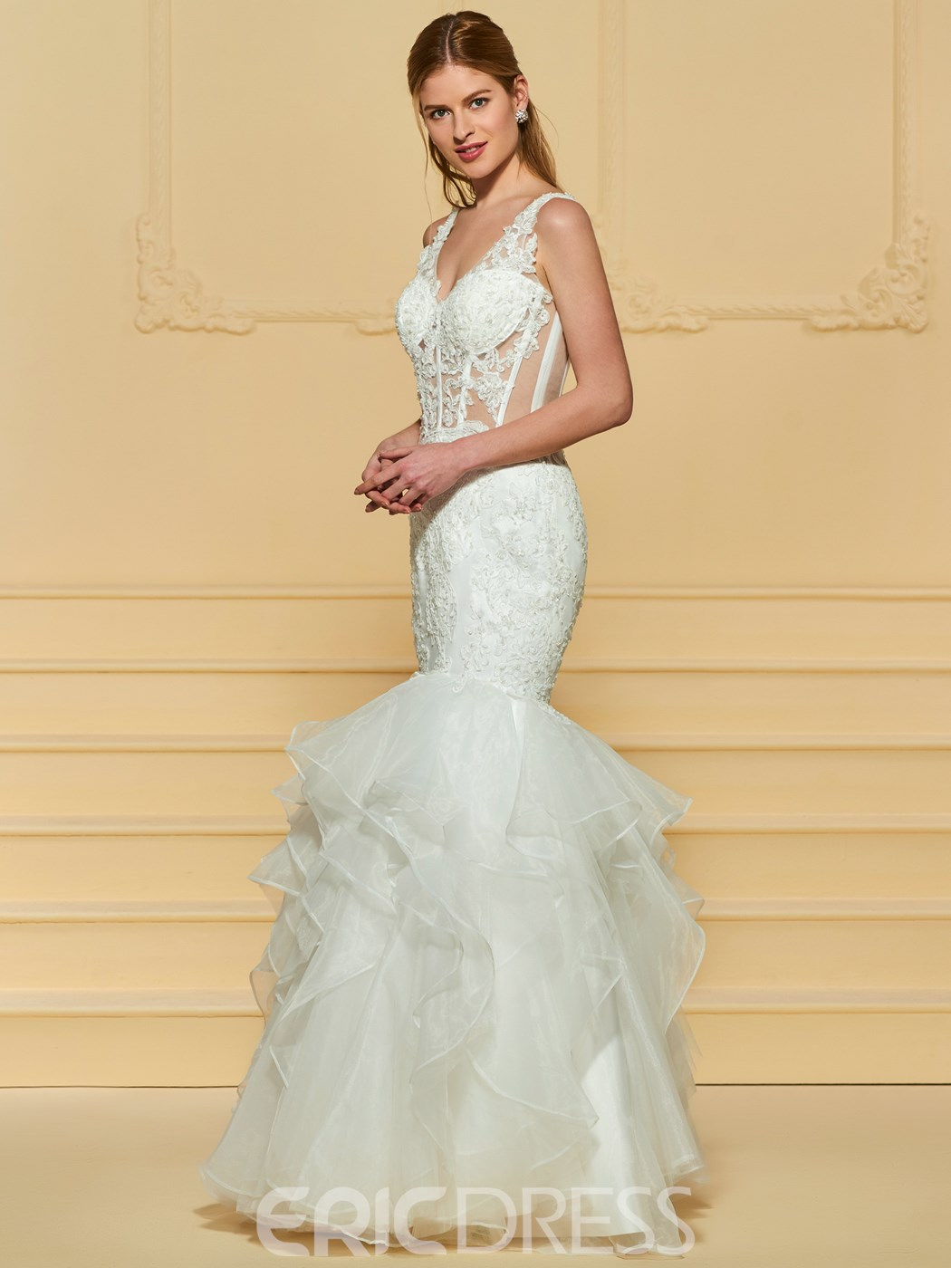 Ericdress Sexy Mermaid Appliques Wedding Dress